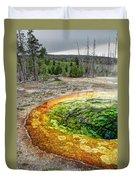 Morning Glory Pool - Yellowstone Duvet Cover