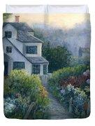 Morning In A Maine Garden Duvet Cover