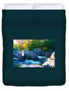 Morning In Eau Claire Dells Duvet Cover