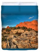 Morning Light At Garden Of The Gods Duvet Cover