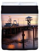 Morning Light At Port Angeles Duvet Cover