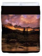 Morning Light Maligne Pass Duvet Cover