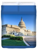 Powerful - Washington Dc Morning Light On Us Capitol Duvet Cover