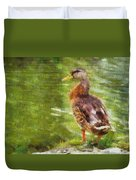 Morning Mallard Duvet Cover