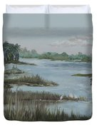 Morning Marsh At Babcock Ranch Duvet Cover