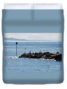 Morning Meeting - Lyme Regis Duvet Cover