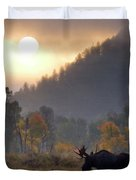 Morning Moose Duvet Cover