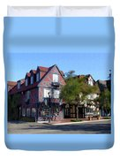 Morning On 2nd Street Solvang California Duvet Cover