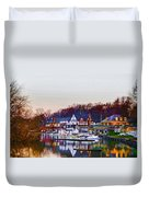 Morning On Boathouse Row Duvet Cover