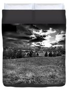 Morning On The Farm Two Bw Duvet Cover