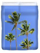 Morning Palms Duvet Cover