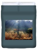 Morning Rays Through Live Oaks Duvet Cover