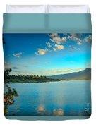 Morning Reflections On Lake Cascade Duvet Cover