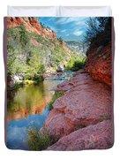 Morning Sun On Oak Creek - Slide Rock State Park Sedona Arizona Duvet Cover