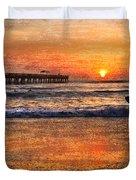 Morning Surf Duvet Cover by Debra and Dave Vanderlaan
