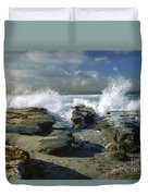 Morning Tide In La Jolla Duvet Cover by Sandra Bronstein