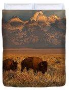 Morning Travels In Grand Teton Duvet Cover