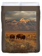 Morning Travels In Grand Teton Duvet Cover by Sandra Bronstein
