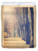 Morning Trees Duvet Cover