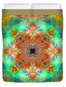 Moroccan Sun Mandala Duvet Cover