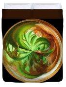 Morphed Art Globes 16 Duvet Cover by Rhonda Barrett
