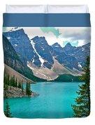 Morraine Lake In Banff Np-alberta Duvet Cover