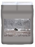 Morris Arboretum Mill In Winter Duvet Cover