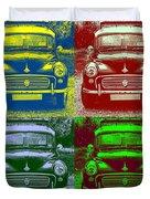 Morris Car In Pop Art Duvet Cover
