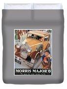 Morris Major 6 - Vintage Car Poster Duvet Cover
