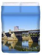 Morrison Bridge Portland Oregon Duvet Cover