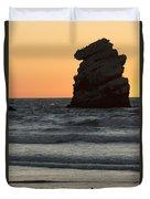 Morro Beach Sunset Duvet Cover