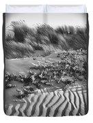Morro Beach Textures Bw Duvet Cover