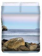 Morro Rock Morning Duvet Cover
