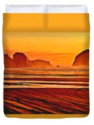 Morro Rock Painting Duvet Cover