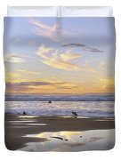 Morro Rock Park Duvet Cover