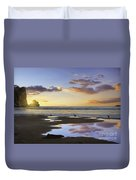 Morro Rock Reflection Duvet Cover