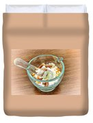 Mortar And Pestle With Drugs Duvet Cover