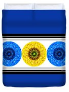 Mosaic Blue Circles With Yellow Duvet Cover