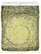 Mosaic Galaxy In Gold Duvet Cover