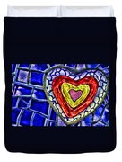 Mosaic Heart By Diana Sainz Duvet Cover
