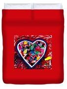 Mosaic Heart Duvet Cover