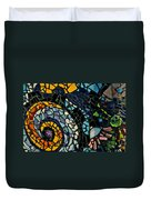 Mosaic Pattern On Wall Duvet Cover
