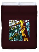 Mosaic Stained Glass - First Tree Duvet Cover by Catherine Van Der Woerd