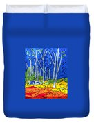 Mosaic Stained Glass - My Woods Duvet Cover