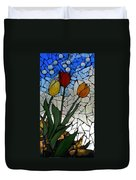 Mosaic Stained Glass - Spring Shower Duvet Cover