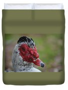 Moscovy Duck With Hairdo Duvet Cover
