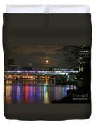 Moscow At Night In Winter Duvet Cover