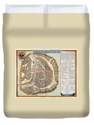 Moscow: Map, 1662 Duvet Cover