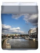 Moscow River - Russia Duvet Cover
