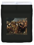 Moses And The Water From The Stone Duvet Cover